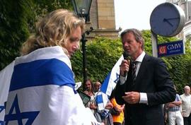 Pro-Israël manifestatie