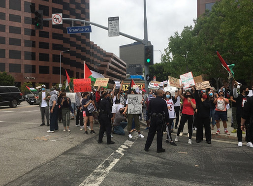 Chaotic but Non-Violent Anti-Israel Demonstration Outside Israeli L.A. Consulate