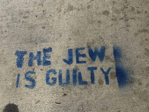 "LA Resident Spray-Paints Over ""The Jew Is Guilty"" Graffiti"