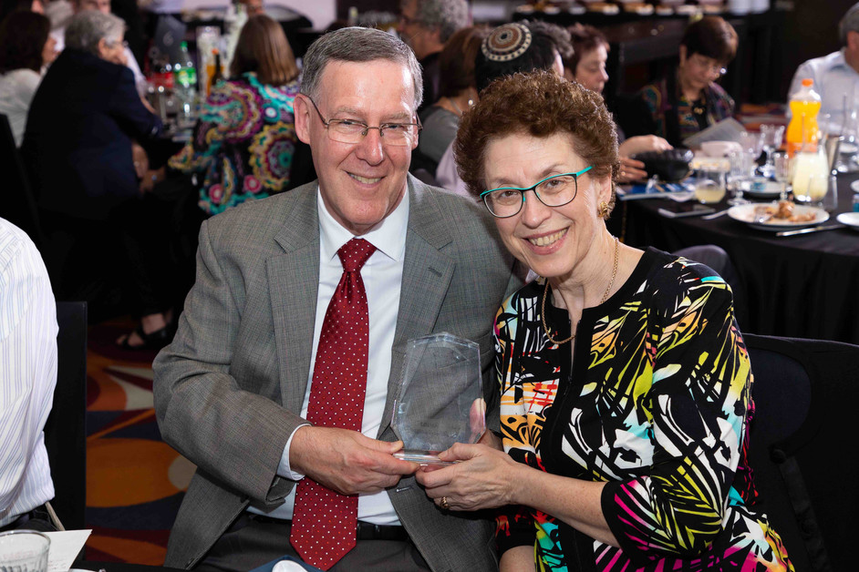 Honoree Richard Corman with wife, Jean.