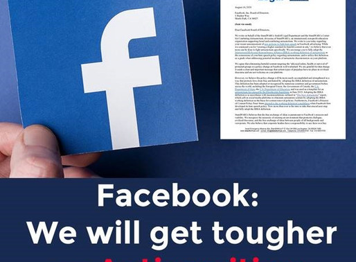 StandWithUs Welcomes Facebook Action on Antisemitism; Will Monitor Progress & Advise