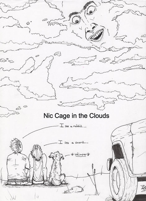Nic Cage in the Clouds