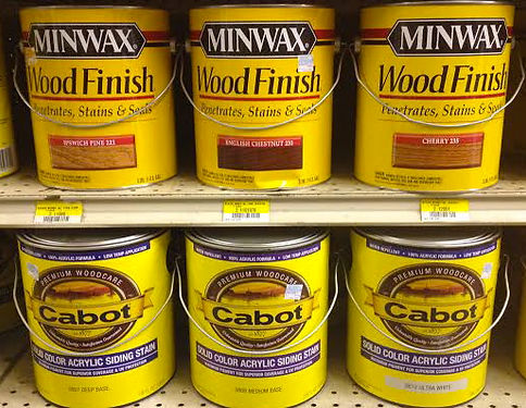 Minwax and Cabot Wood Stains