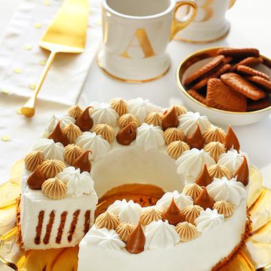 כתר עוגת ביסקוויטים לוטוס