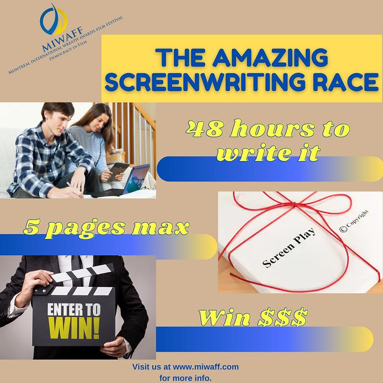 MIWAFF 2021 Amazing Screenwriting Race