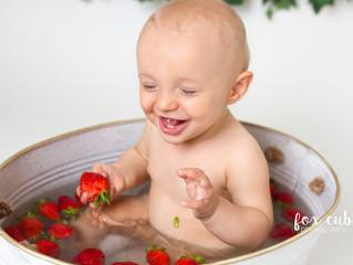 Mini fruit bath summer sessions