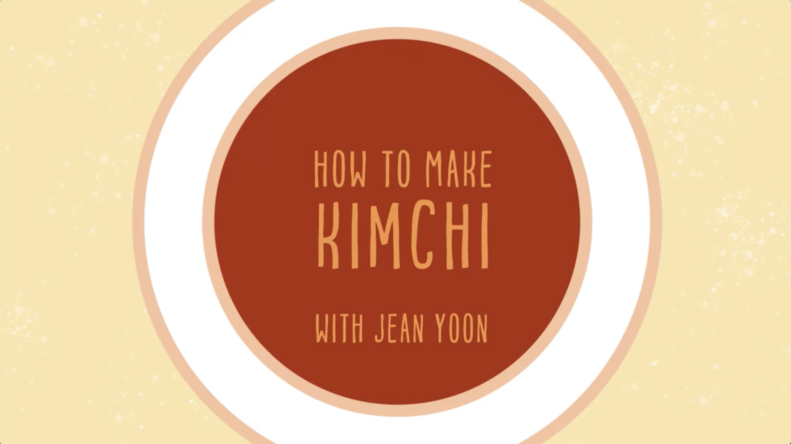 How to make Kimchi with Jean Yoon