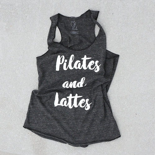 Pilates and Lattes Racerback Tank