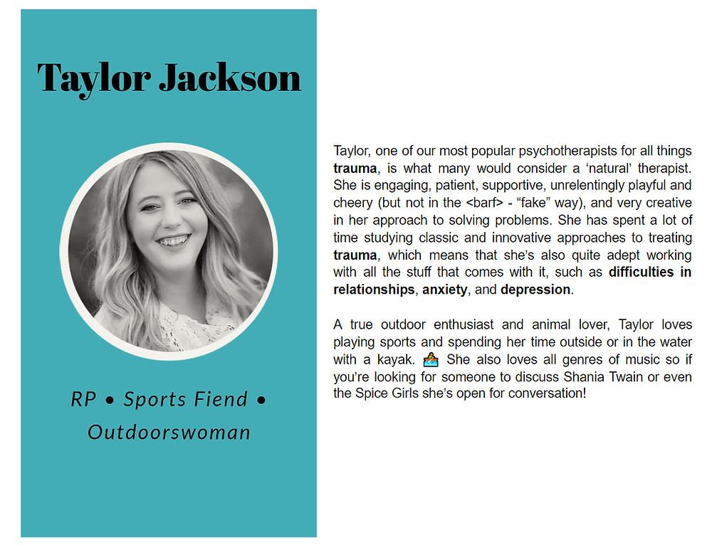 Taylor Jackson bio with Limestone Clinic
