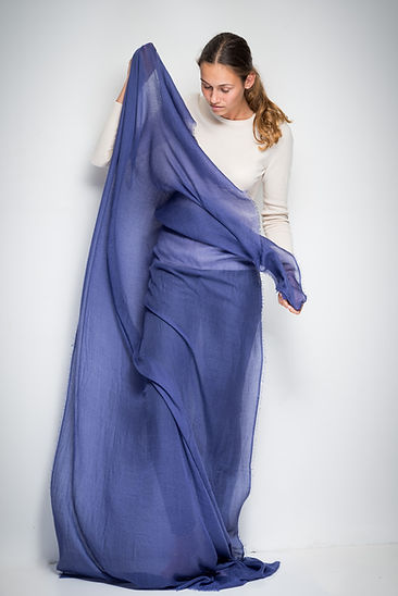 Big stole 110x220 cm in extremely fine cashmere