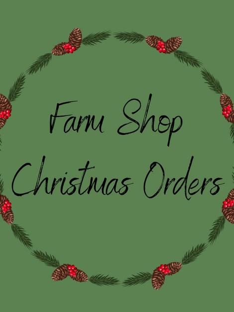 farm shop Christmas orders