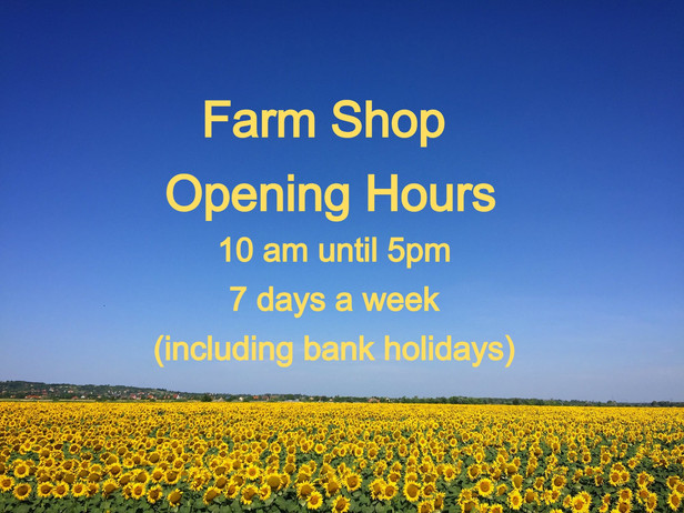 UPDATED OPENING HOURS!