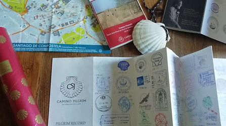 Camino Pilgrim stamped card