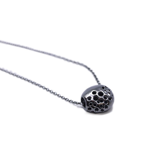 Pitted Black Hollow Pendant