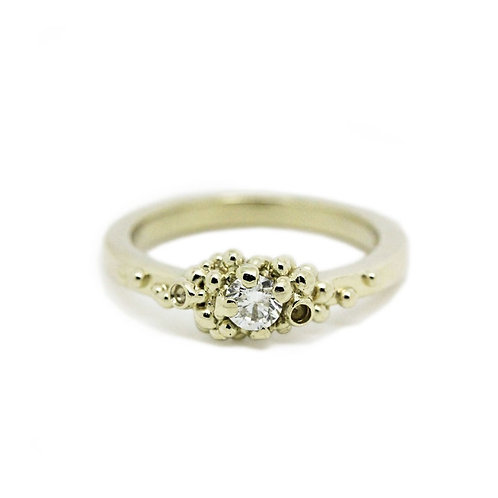 Granulated Diamond Ring