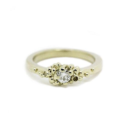 Granulated Diamond Ring
