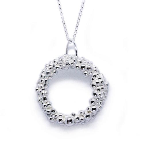 Large Granulated Circle Pendant