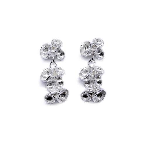 Triple Petal Drop Earrings
