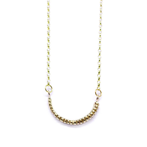 Gold Fossil Necklace