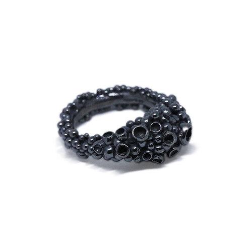 Oxidised Granulated Ring