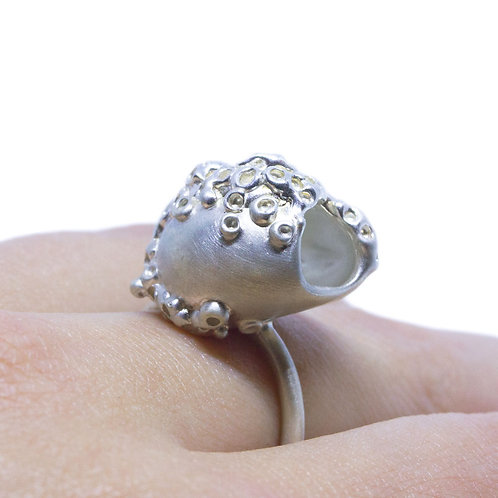 Textured Hollow Ring