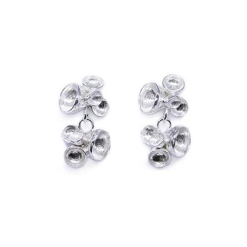 Double Petal Drop Earrings