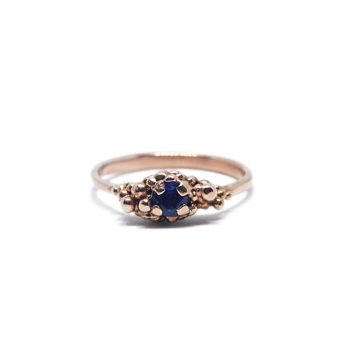 Granulated Sapphire Solitaire