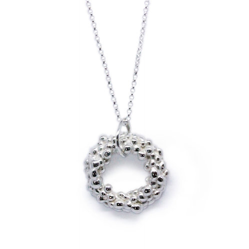 Granulated Circle Pendant