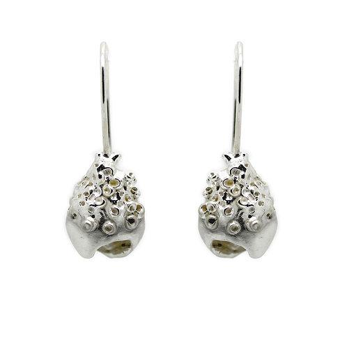 Textured Hollow Drop Earrings