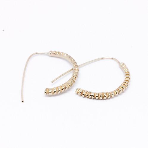 Gold Fossil Drop Earrings