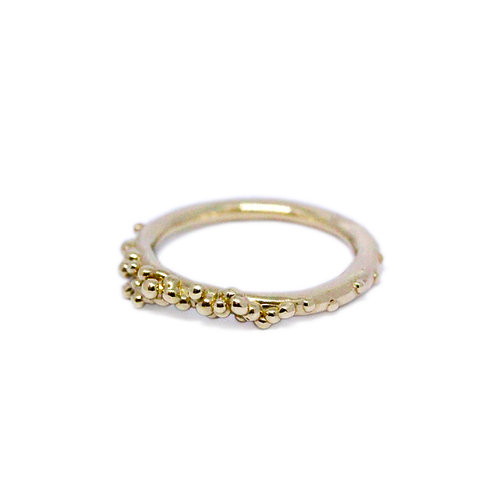 Gold Granule Ring