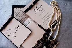 Black Lace Stationery Collection