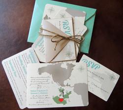 Destination Wedding Map Invitation