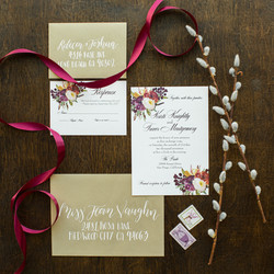 Fall Floral Invitation Suite