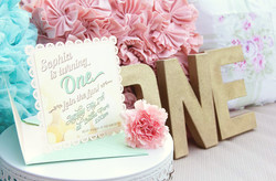 1st Birthday Invite & Large Letters