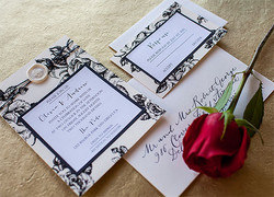 Modern layered invitation