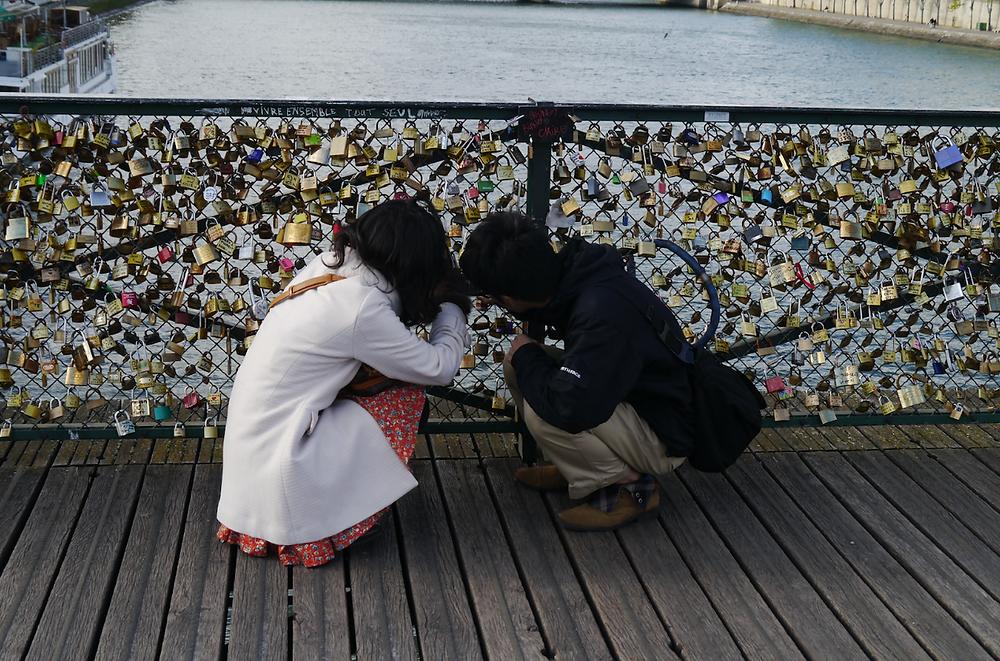 Photo: by JL Ropas ~ Pont des Arts Bridge, Paris, France ~ Love Locks, 2012