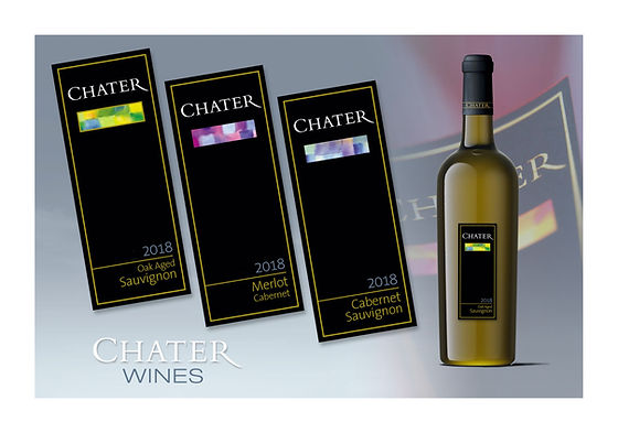 Chater contemporary wine labels