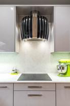 Kitchen cooker hood detail