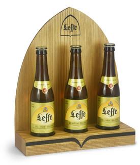 Bottle display for Leffe beer bottles