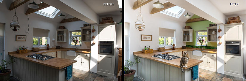 Before & after retouching example