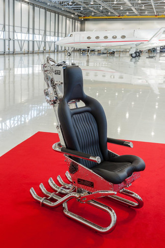 Executive office chair made from an ejector seat