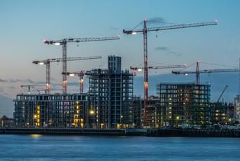 Riverside building site