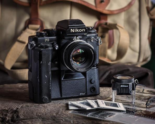A1980s Nikon F3 film camera