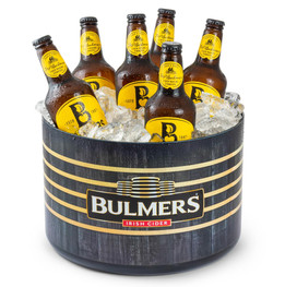 10L Bulmers ice bucket with bottles