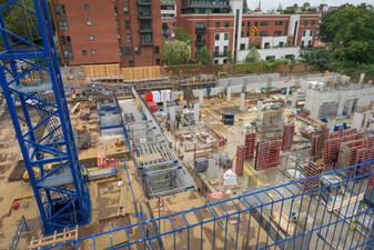 Construction site, London