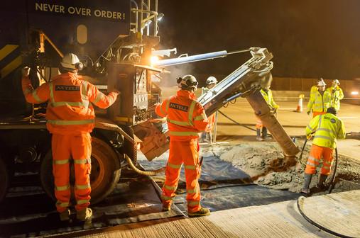 Resurfacing work on the M25