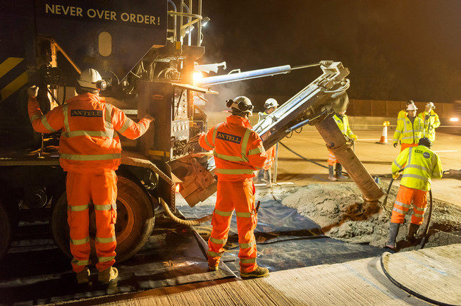 Resurfacing work on the M25