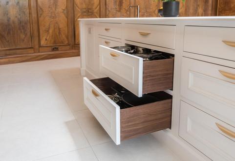 Kitchen drawers detail