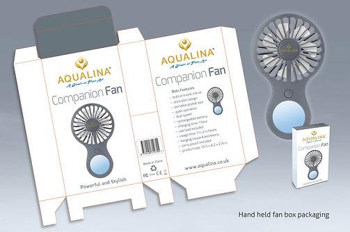Aqualina Companion Fan packaging
